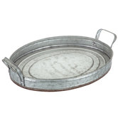 Galvanized Oval Metal Tray